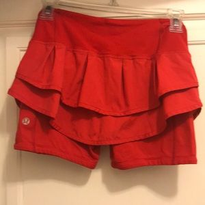 Lululemon Red tulip skort